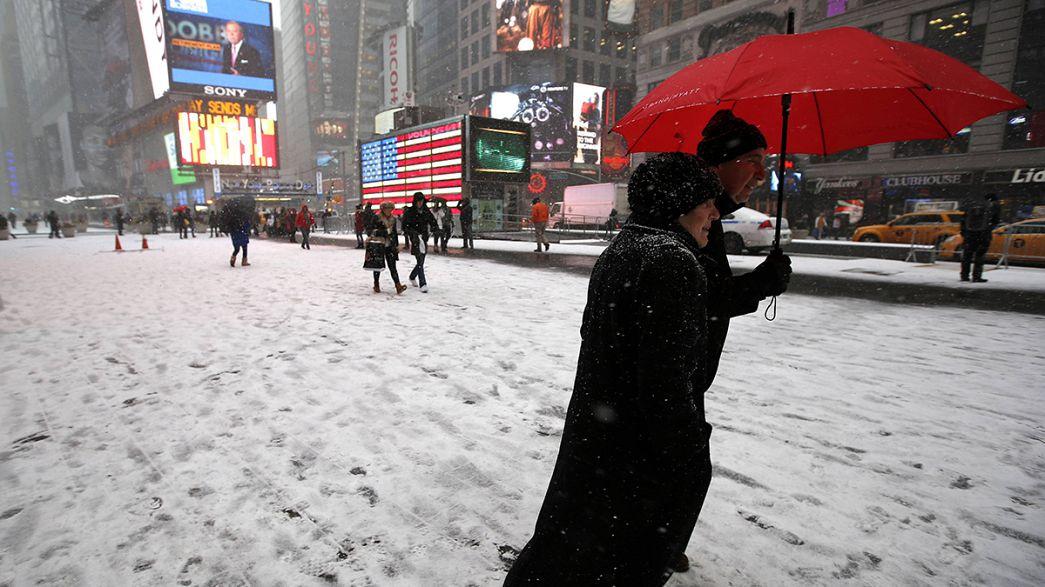 La costa este de Estados Unidos preparada para una histórica tormenta de nieve
