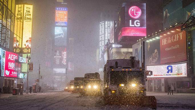New York shuts down as 'life-threatening blizzard' slams into northeast US