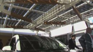 Solar carport: using sunlight to make electric cars cheaper to run