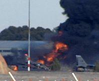 Espanha: Subiu para 11 o número de mortos no acidente com um caça F-16 grego