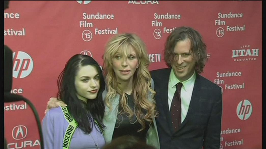 Brad Pitt és Courtney Love a Sundance-en