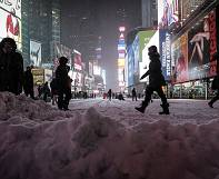 New York snowstorm less severe than was feared