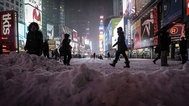 """США: """"исторического"""" снегопада не случилось"""