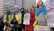 Ukrainian expats rally for tougher EU sanctions