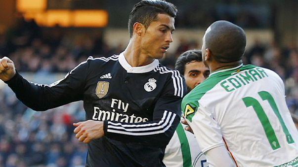 ايقاف رونالدو عن اللعب في مباراتين فقط