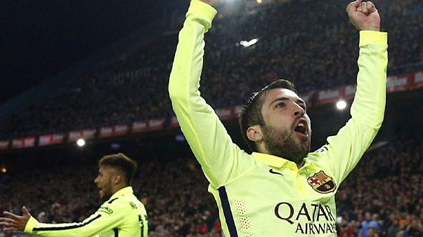 Neymar mete al Barcelona en semifinales de la Copa del Rey