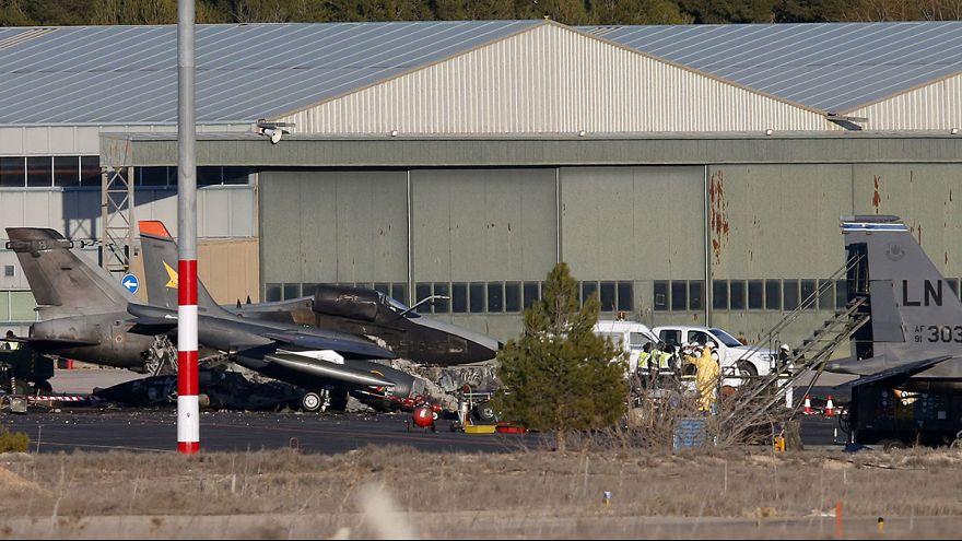 Un fallo durante el despegue posible causa del siniestro del F-16 griego