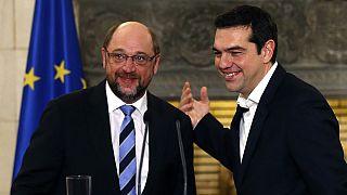 """Schulz em Atenas: Tsipras quer discutir e isso é uma """"muito, muito boa notícia"""""""