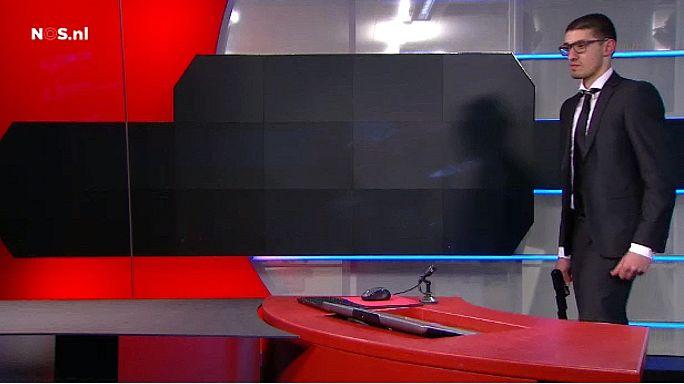 В Нидерландах хакер с пистолетом ворвался в телеэфир