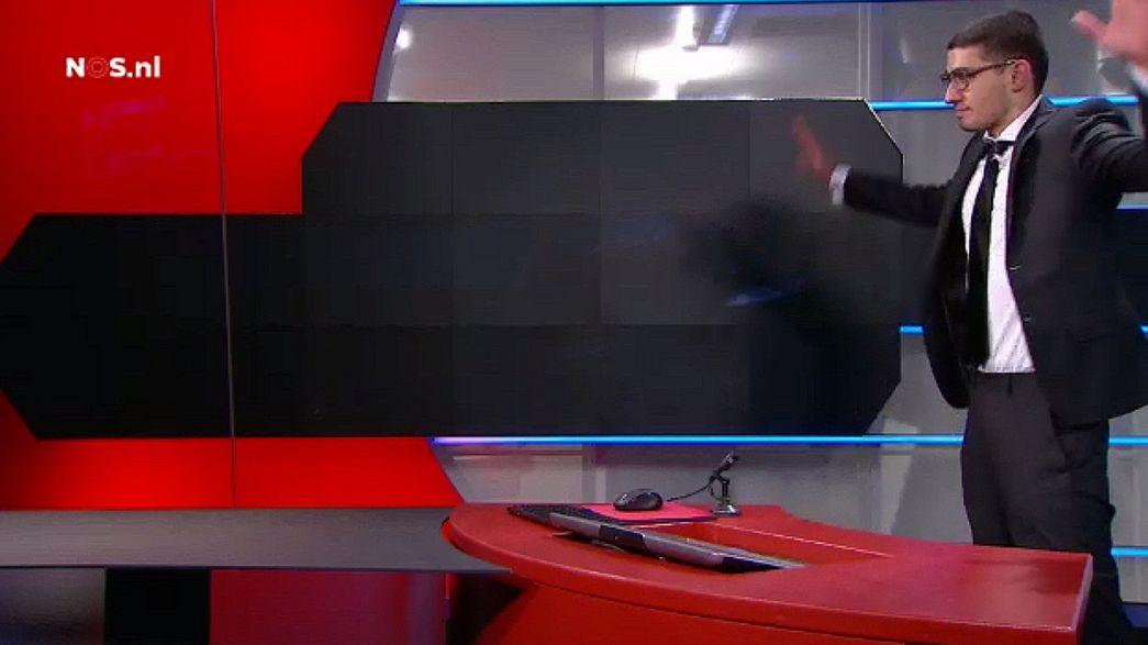 Irruzione alla tv olandese, le immagini del blitz