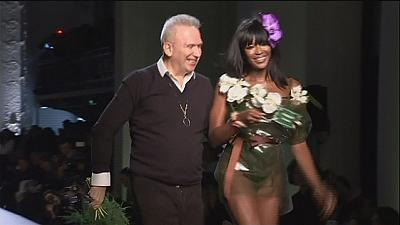 "French fashion ""enfant terrible"" Jean-Paul Gaultier has fun in Paris"