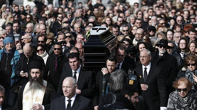 Funeral of singer Demis Roussos held in Athens