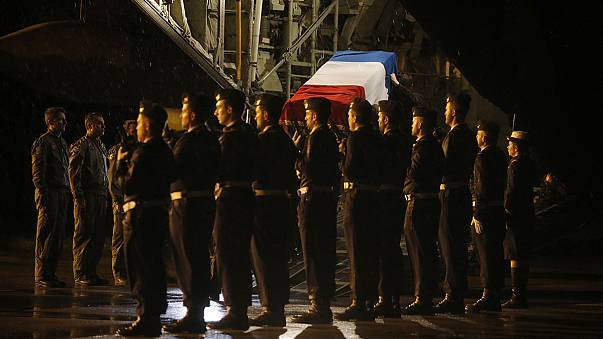 French ceremonies in honour of victims of fighter jet crash