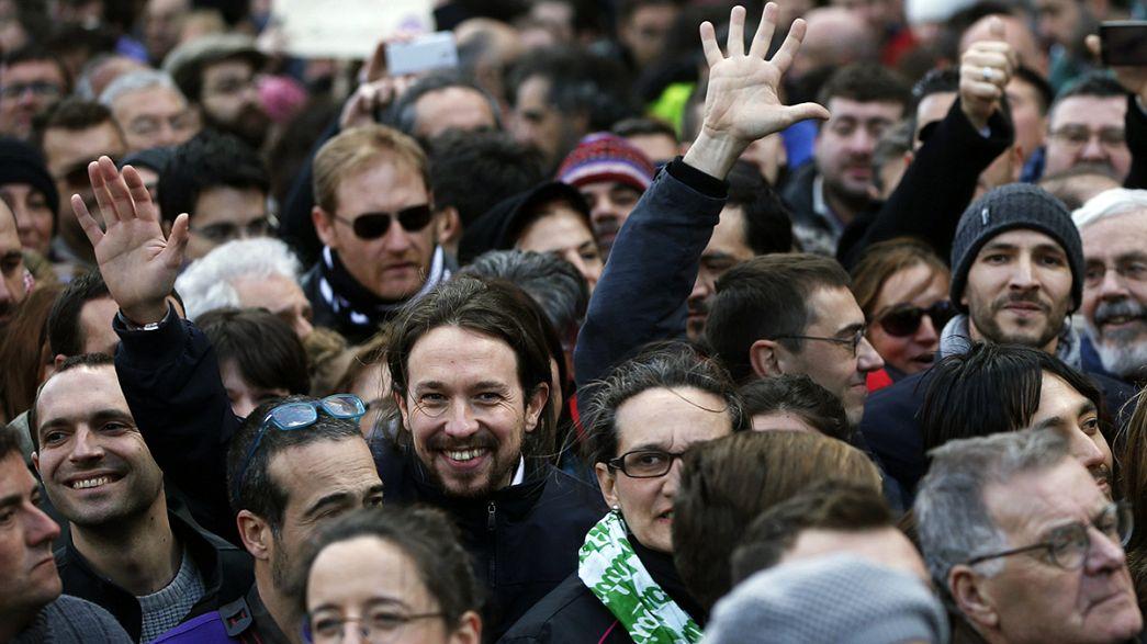 Podemos riempie le strade di Madrid, Iglesias lancia la sfida ai Popolari