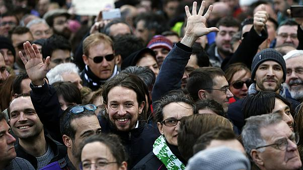 Podemos'tan Madrid'de dev miting