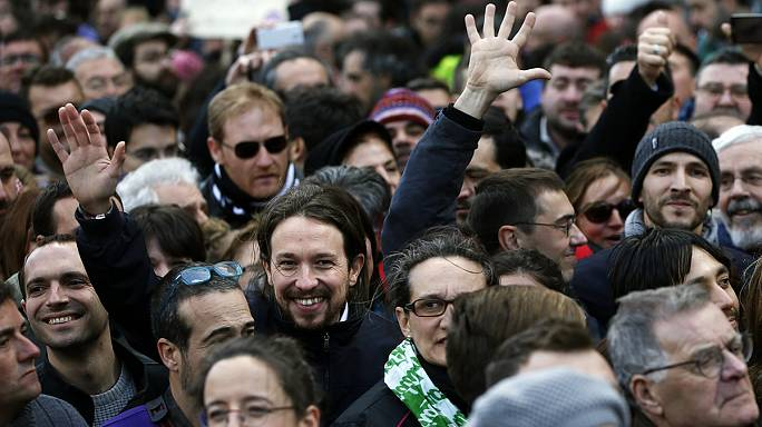 Podemos'tan Madrid'de dev miting