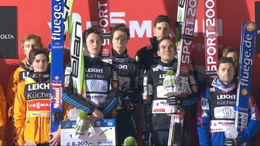 Slowenien gewinnt den Team Weltcup der Skispringer in Villingen