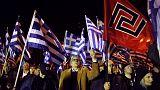 Miles de antifascistas se manifiestan en Atenas contra la extrema derecha neonazi