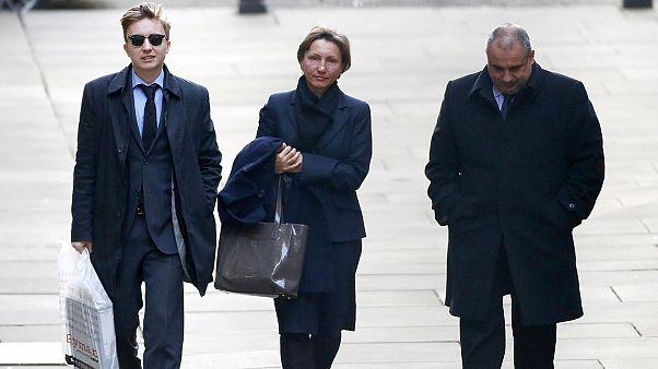أرملة ليتفينينكو تدلي بشهادتها أمام المحكمة العليا البريطانية
