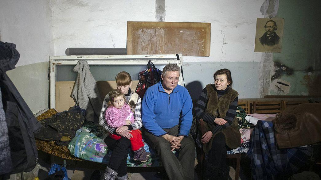 Miles de refugiados ucranianos huyen de Debáltsevo y sus alrededores