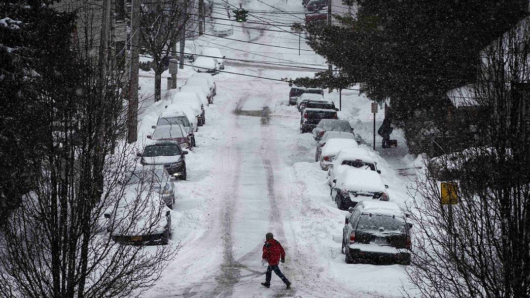 Wintry weather hits US northwest for a second time in less than a week
