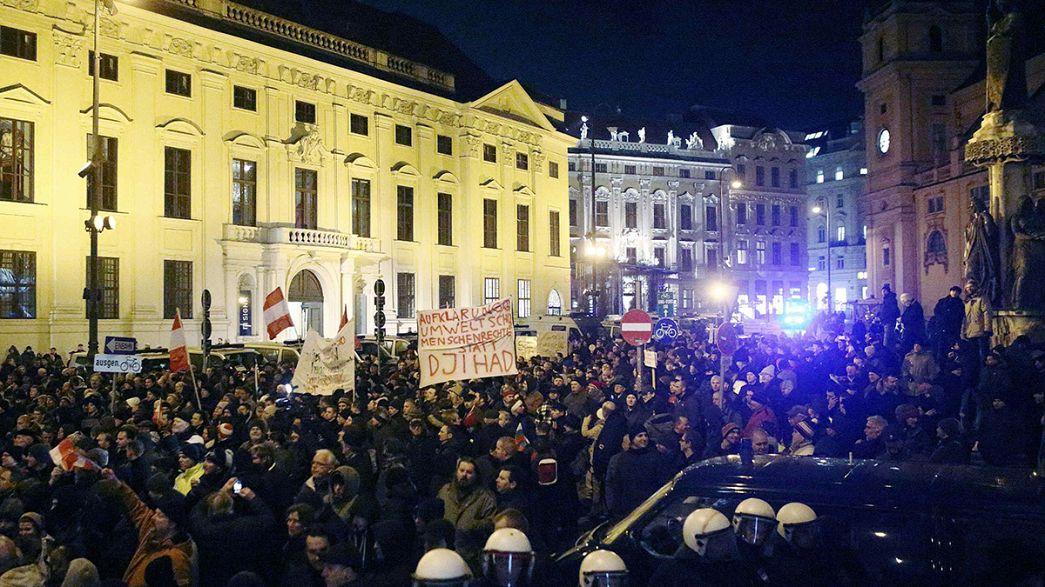 Pegida se estrena en Austria con 250 manifestantes en Viena