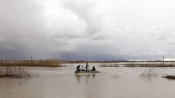 Rain triggers floods in Balkans