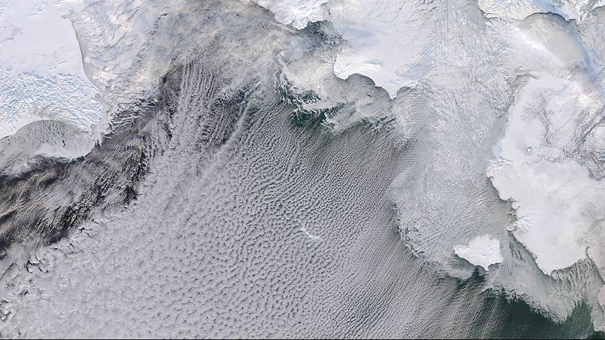 Wolkenstraße - Beeindruckende Bilder vom Beringmeer