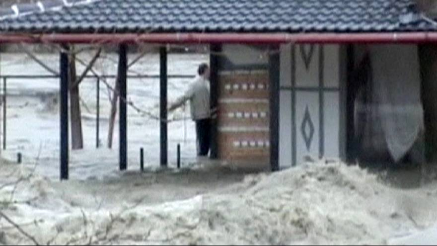 Vjosa River floods Albanian villages