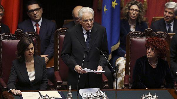"""Mattarella ha giurato da Presidente: """"Sarò arbitro imparziale"""""""