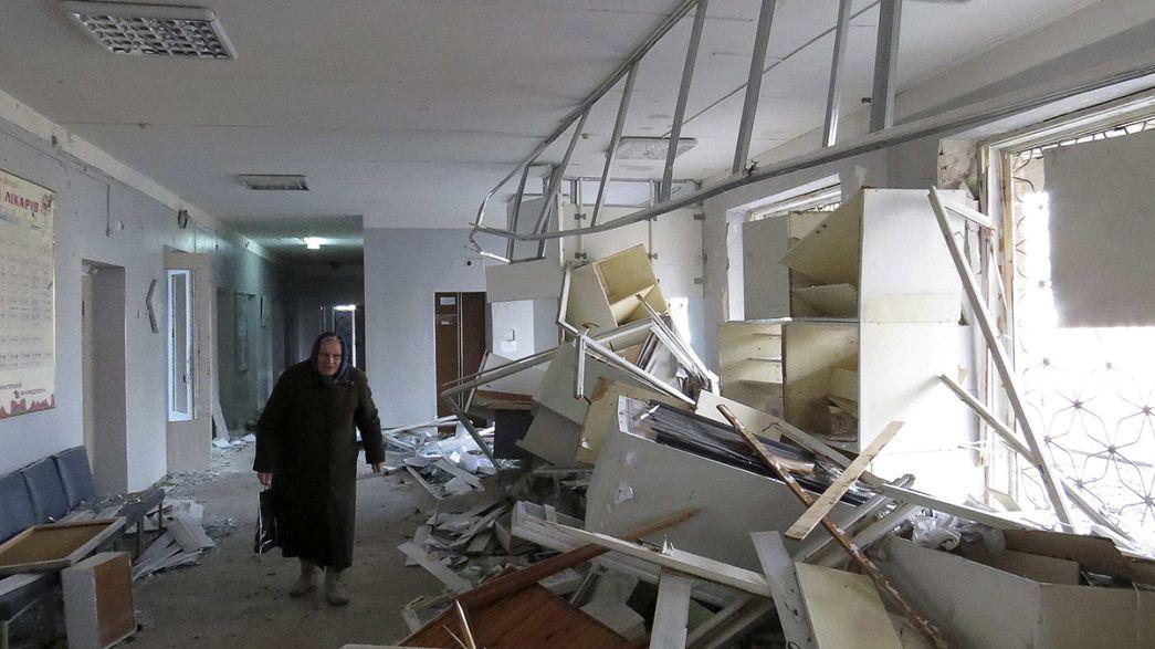 Un ataque de artillería impacta en un hospital de Donetsk