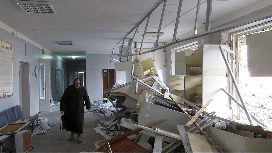 Deadly rocket attack on hospital in rebel-held Donetsk in Ukraine