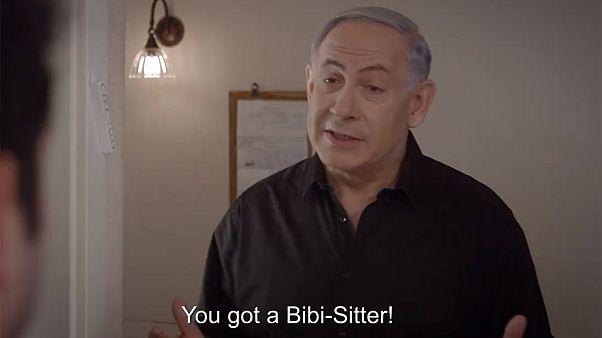"""Netanyahu, """"Bibi-sitter"""" de Israel y otros extraños videos de campaña electoral"""