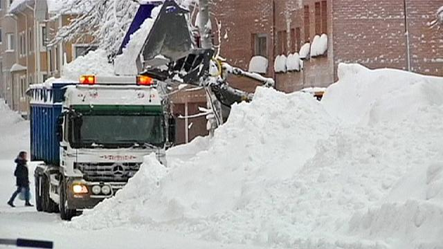 Швеция не видела столько снега уже полвека