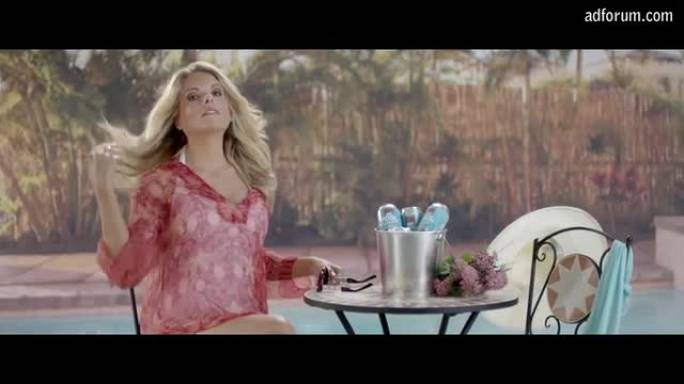 Erin Molan spits a SINKER (Royal Life Saving Association)