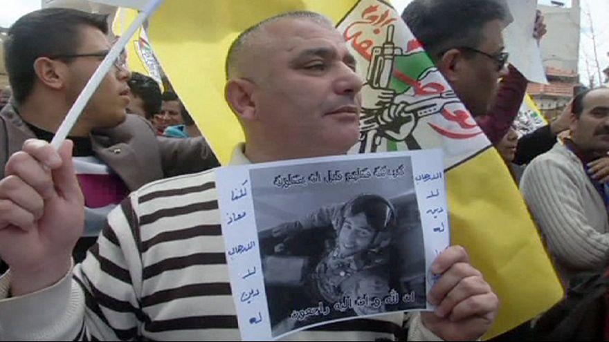 Manifestación palestina contra el grupo Estado Islámico