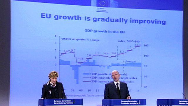 Zone euro : prévisions de croissance légèrement revues à la hausse