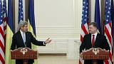 """كيري يعتبر ما يحدث في الشرق الأوكراني """"عدوانا روسيا"""""""