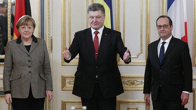 Alman ve Fransız liderler barış planıyla Kiev'de