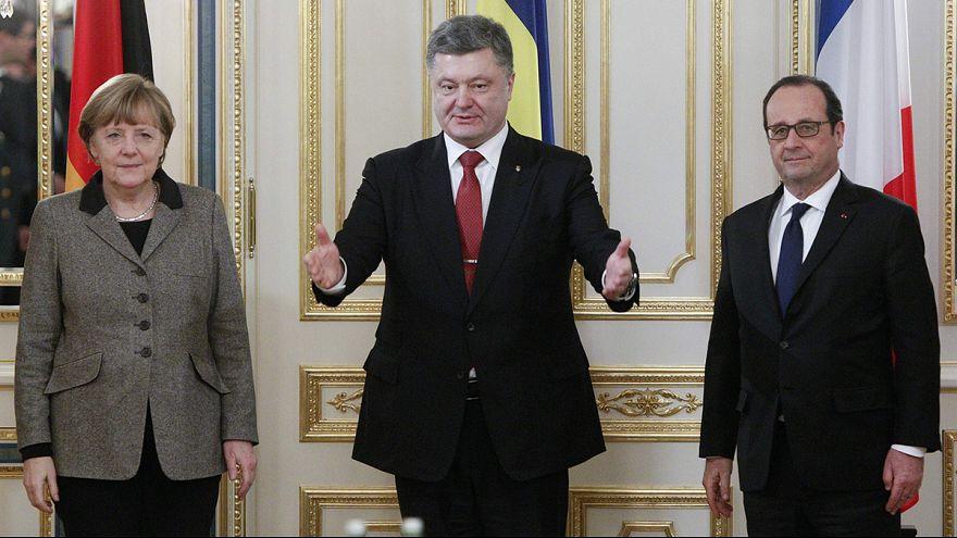 Vermittlung in Kiew und Moskau: Hollande und Merkel auf Friedensmission