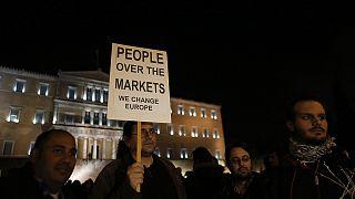 تظاهرات مخالفان ریاضت اقتصادی در آتن