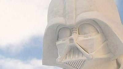 Star Wars sculptures capture audience at Hokkaido snow festival – nocomment