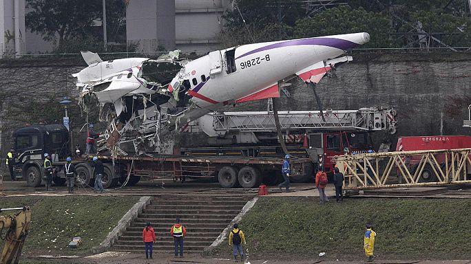 """تايوان: تواصل أعمال البحث عن مفقودي طائرة """"ترانس آسيا"""" للطيران"""