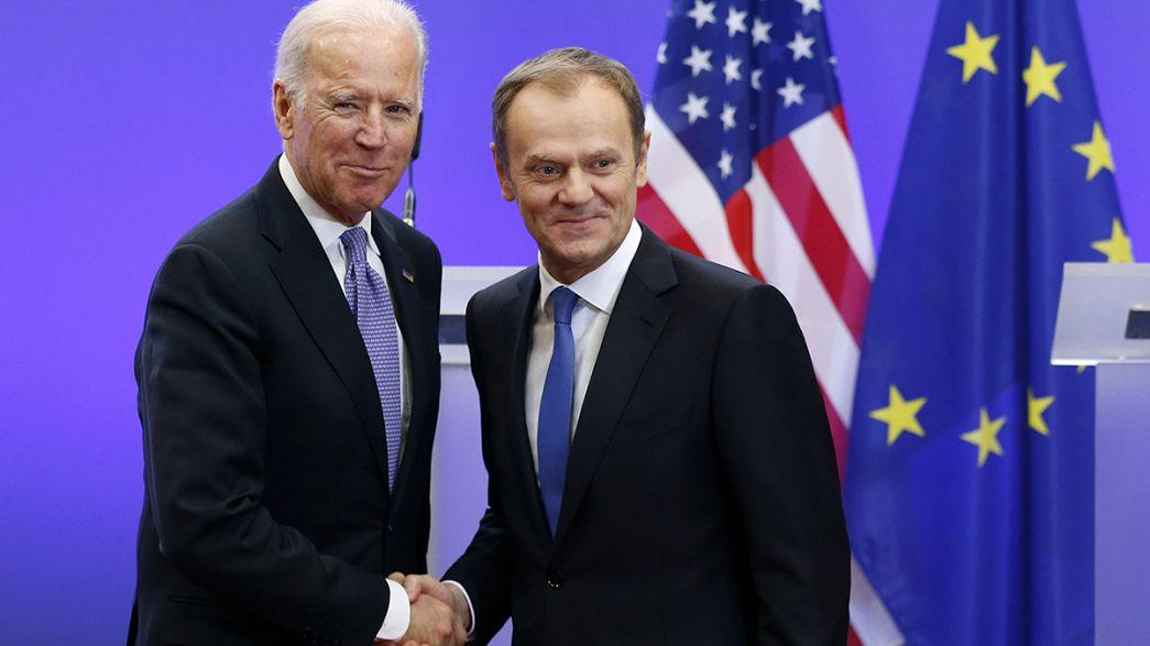 La crisis ucraniana monopoliza la visita de Joe Biden a la UE