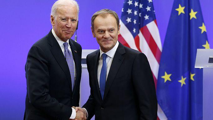"""جو بايدن: """"يجب عدم السماح لروسيا بإعادة رسم الخارطة الأوروبية"""""""