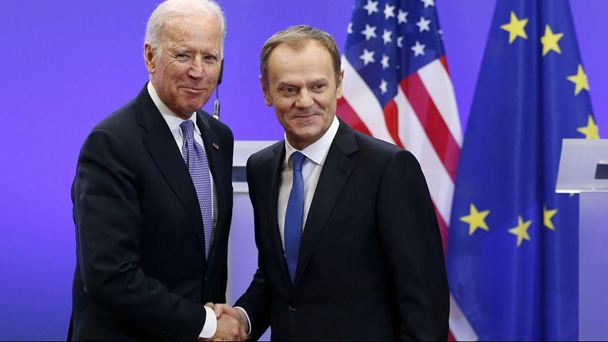 """Biden in Brüssel: """"In dieser Zeit müssen die USA und Europa standhaft zusammenhalten."""""""