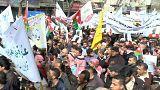 مظاهرة في الأردن للتنديد بعملية حرق الطيار معاذ الكساسبة من قبل ما يسمى بتنظيم الدولة الإسلامية