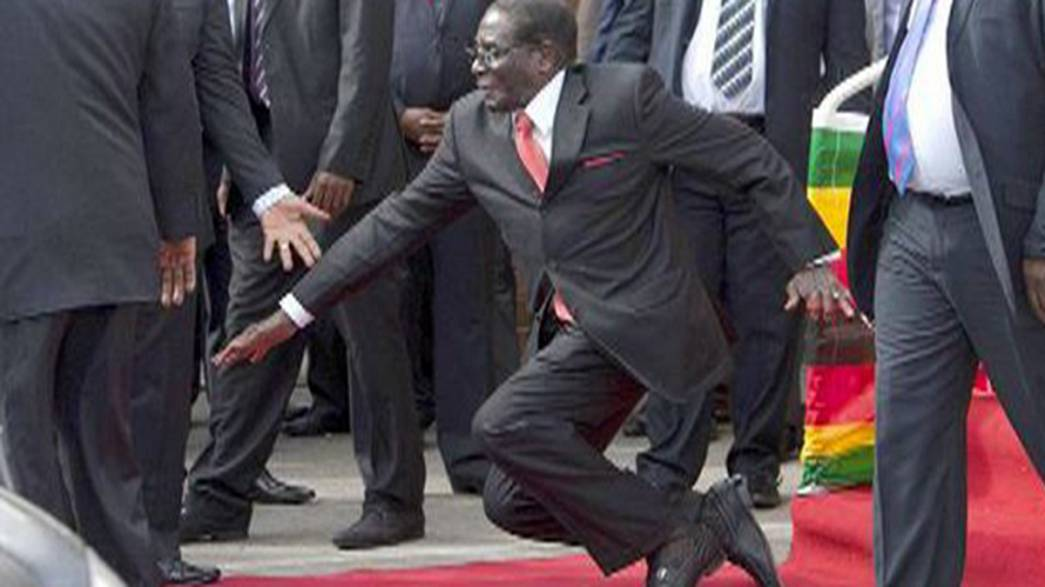 Robert Mugabe's downfall sparks social media storm