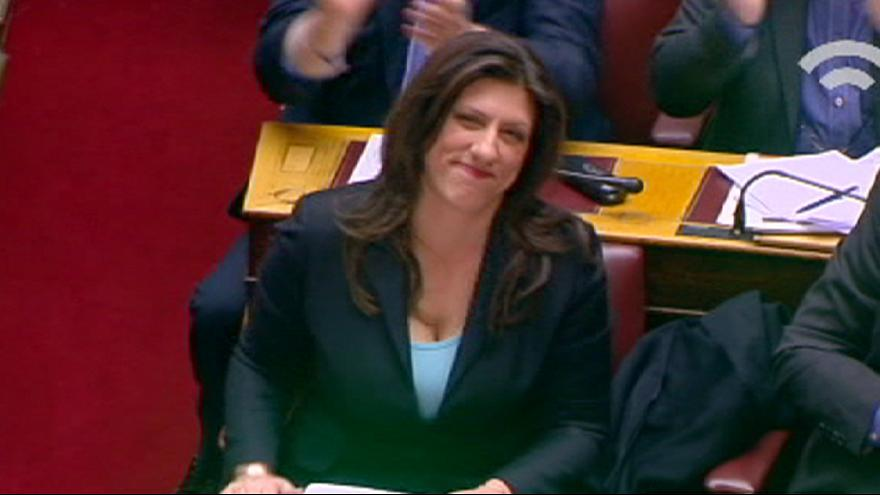 Greek parliament elects a female speaker of parliament