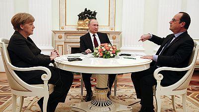 Merkel e Hollande já se reuniram com Putin